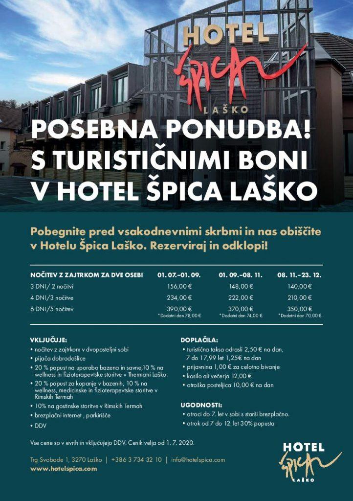 S turističnimi boni v Hotel Špica Laško